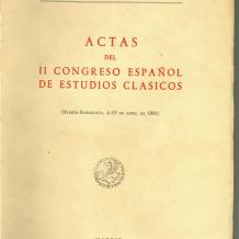 Actas del II Congreso Español de Estudios Clásicos