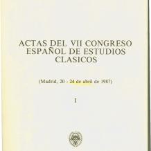 Actas del VII Congreso Español de Estudios Clásicos