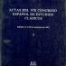 Actas del VIII Congreso Español de Estudios Clásicos