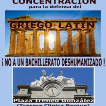 Canarias: concentración de profesores y padres en defensa del griego y del latín