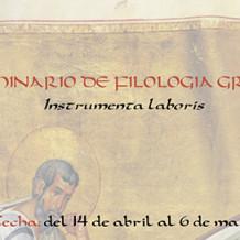 I Seminario de Filología Griega Instrumenta laboris