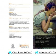 XXI Curs de Pensament i Cultura Clássica