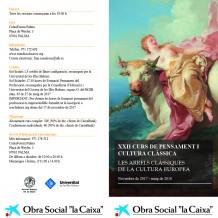XXII Curs de Pensament i Cultura Clàssica