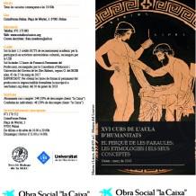 XVI Aula de Humanidades – SEEC Baleares
