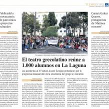 La Seec en la prensa de Canarias – Festival de Teatro Grecolatino en La Laguna