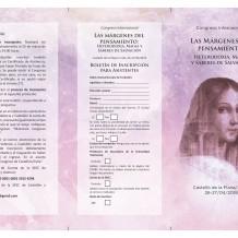 Congreso internacional: Las márgenes del pensamiento: heterodoxia, magia y saberes de salvación. Castellón de la Plana 26-27 de abril del 2018