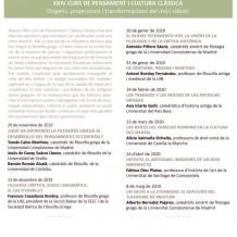 XXIV Curs de Pensament i Cultura Clàssica
