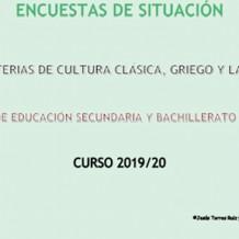 Encuestas sobre latín y griego en centros educativos (2019-2020)