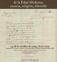 El latín en el discurso intelectual de la Edad Moderna: ciencia, religión, filosofía – Curso de posgrado