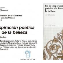 De la inspiración poética y la idea de la belleza (Luis Gil Fernández)