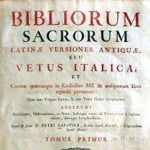 Introducción a las versiones latinas de la Biblia